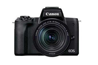Appareil photo hybride Canon EOS M50 Mark II Noir + EF-M...