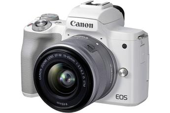 Appareil photo hybride Canon EOS M50 Mark II Blanc + EF-M...