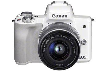 e69d79f77f1308 Appareil photo hybride EOS M50 Blanc + EF-M 15-45 mm f