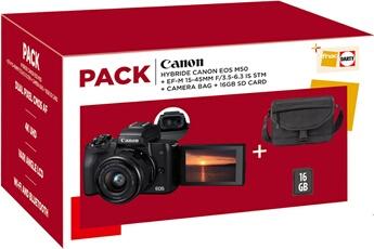 Appareil photo hybride Canon PACK EOS M50 + OBJECTIF EF-M...