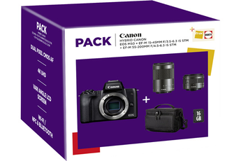 Appareil photo hybride Canon PACK EOS M50 + 15-45MM +...