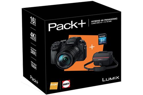 Appareil photo hybride PACK LUMIX DMC-G7H + 14-140MM + HOUSSE + SD 8GO Panasonic