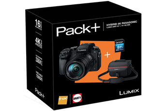 Appareil photo hybride PACK LUMIX DMC-G7H + 14-140MM + HOUSSE + SD 8GO Panasonic