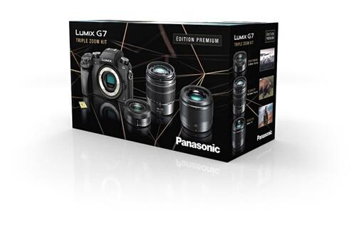 Panasonic Lumix DMC-G7 + Objectif Lumix 12-32 mm F/3.5-5.6 + Objectif 45-150mm f/4-5.6 + Objectif 25 mm f/1,7 + Carte mémoire SD 16 Go