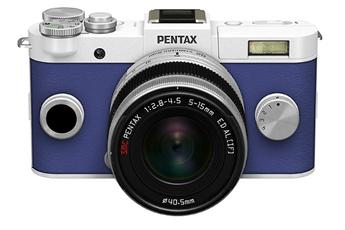 Appareil photo hybride Q-S1 BLANC BLEU + 5-15MM Pentax