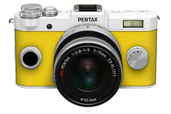 Appareil photo hybride Q-S1 BLANC JAUNE + 5-15MM Pentax