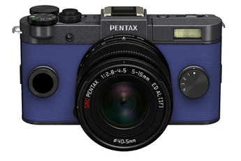 Appareil photo hybride Q-S1 GRIS METAL BLEU + 5-15MM Pentax