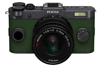 Appareil photo hybride Q-S1 GRIS METAL KAKI + 5-15MM Pentax