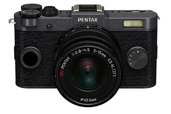 Appareil photo hybride Q-S1 GRIS METAL NOIR + 5-15MM Pentax