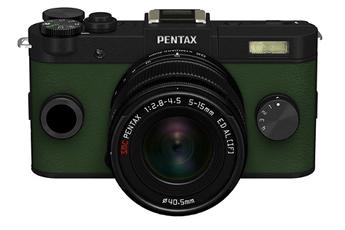 Appareil photo hybride Q-S1 NOIR KAKI + 5-15MM Pentax
