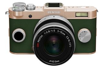 Appareil photo hybride Q-S1 OR KAKI + 5-15MM Pentax