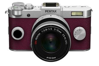 Appareil photo hybride Q-S1 SILVER-BORDEAUX + 5-15MM Pentax