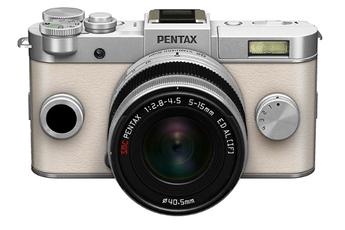 Appareil photo hybride Q-S1 SILVER-CREME + 5-15MM Pentax
