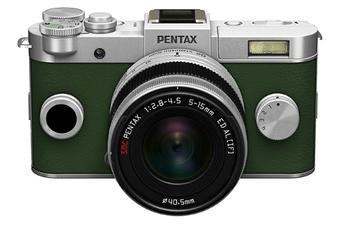 Appareil photo hybride Q-S1 SILVER-KAKI Pentax