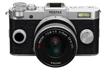 Appareil photo hybride Q-S1 SILVER-NOIR + 5-15MM Pentax