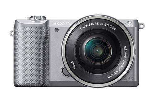 SONY Appareil compact Hybride Appareil photo A5000 avec capteur APS C   Objectif 16 50 mm   Gris ILCE5000LS.CEC