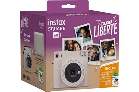 Appareil photo instantané Fujifilm PACK LIBERTE INSTAX SQUARE SQ1 WHITE