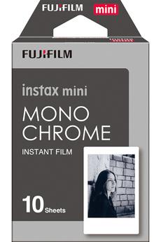 Papier photo instantané FILM INSTAX MINI MONOCHROME NOIR ET BLANC Fujifilm
