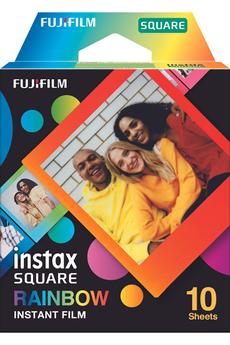 Papier photo instantané Fujifilm SQUARE RAINBOW 10 POSES