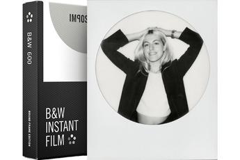 Papier photo instantané FILM NOIR ET BLANC à CADRE ROND BLANC 4525 Impossible