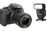Canon 700D+18-55+FLASH