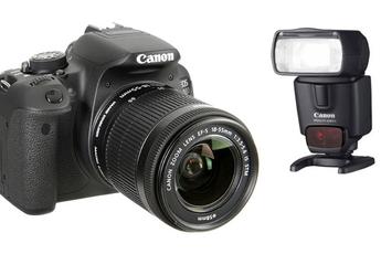 Reflex EOS 700D + 18-55 IS STM + Canon SPEEDLITE 430EX II Canon