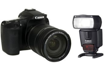 EOS 70D PLUS 18 200 MM IS  PLUS Canon SPEEDLITE 430EX II