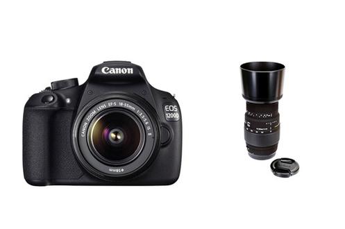 Reflex Canon EOS 1200D + 18-55II IS + Sigma 70-300mm F4-5.6 DG Macro pour Canon Canon
