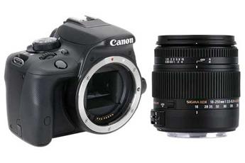 Reflex EOS 100D NU + SIGMA 18-250 MACRO DC OS Canon
