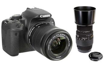 Reflex EOS 700D + 18-55 IS STM + Sigma 70-300mm F4-5.6 DG Macro pour Canon Canon