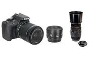 Canon EOS 100D + 18-55 IS STM + 50 MM F/1.8 + Sigma 70-300mm F4-5.6 DG Macro pour Canon