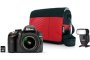 Nikon 3200D+18-55+FLASH