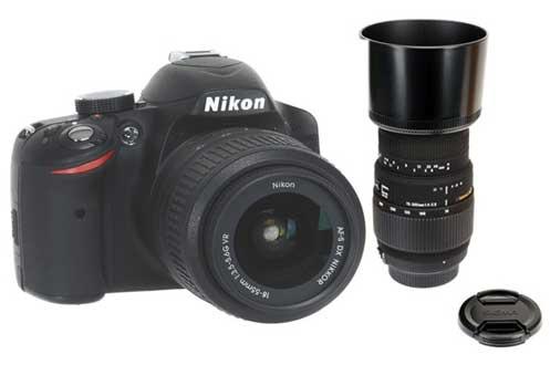 Nikon D3200 + 18 55VR + SIGMA 70 300 F4 5.6 DG (3756890)