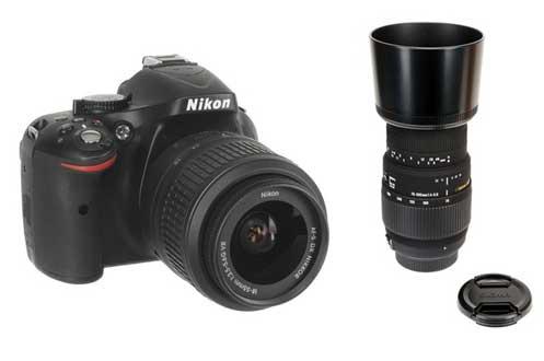 Reflex Nikon D5200+18 55 VR + SIGMA 70 300 F4 5.6 DG