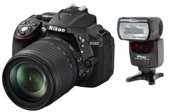 Reflex Nikon D5300 + 18-105 MM VR + SB 700 Nikon