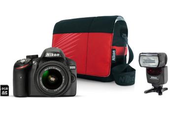 Reflex D3200+18-55VR II + Fourre Tout + 8GO + SB 700 Nikon