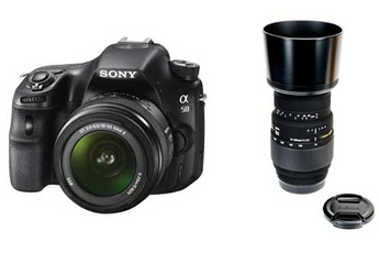 Reflex SLT A58K + 18-55 MM + SIGMA 70-300 MM F4-5,6 DG Sony