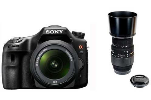 SLT A65 + 18-55 + SIGMA 70-300 MM F4-5,6 DG Sony