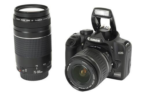 Reflex Canon EOS 1000D KIT 18 55 + 75 300 EOS 1000D + 18 55II + 75