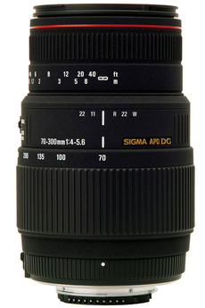 Objectif photo 70-300mm 4-5,6 APO DG Macro Canon Sigma