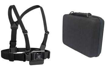 Accessoires pour caméra sport HARNAIS DE POITRINE + HOUSSE POUR CAMERA SPORTIVE Temium