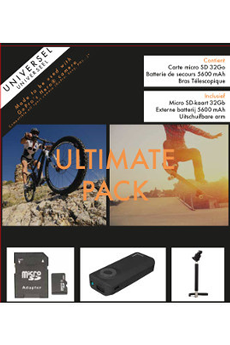 Accessoires pour caméra sport ULTIMATE PACK pour GOPRO et caméra sportive Urban Factory