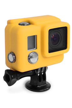 Accessoires pour caméra sport PROTECTION SILICONE HERO3+ JAUNE Xsories