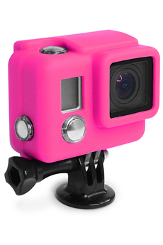 Accessoires pour caméra sport PROTECTION SILICONE HERO3+ MAGENTA Xsories