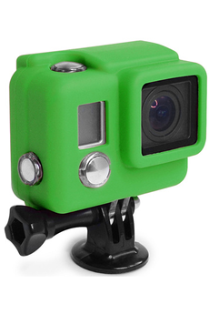 Accessoires pour caméra sport PROTECTION SILICONE HERO3+ VERTE Xsories