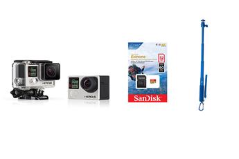 Caméra sport HERO 4 Black + Perche + Micro SD 32Go Gopro