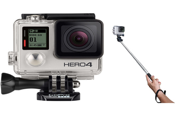 Caméra sport HERO4 SILVER + PERCHE CAMERA Gopro