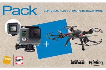 Caméra sport HERO+ LCD + DRONE R'BIRD BLACK MASTER Gopro