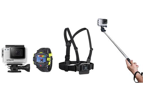 Caméra sport HDSVR70E + HARNAIS DE POITRINE + PERCHE 100 cm Hitachi