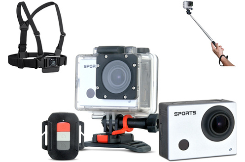 Caméra sport PSV002+PERCHE+HARNAIS Proline